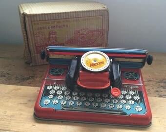 Vintage Tin Mettype Junior Toy Typewriter