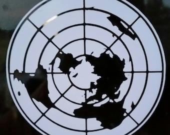 Flat Earth Decal/Sticker