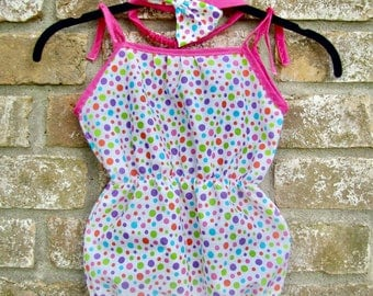 Lily Romper and matching headband
