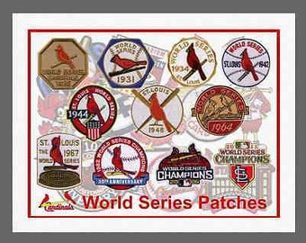 St Louis Cardinals World Series Patch Canvas Print 8.5 X 11