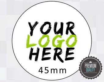 Round Printed Stickers 45mm, Custom Logo Labels, Personalised stickers, Product labels, Logo sticker, Envelope Seals