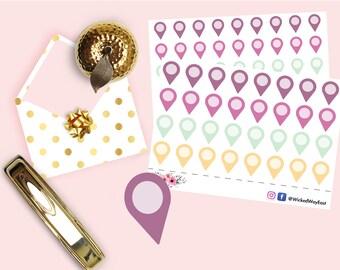 Tear Drop Tabs Planner Sticker, Mini Tabs Planner Sticker, Pastel Teardrop Tabs Planner Sticker, Cute Kawaii Sticker, Planner Accessories