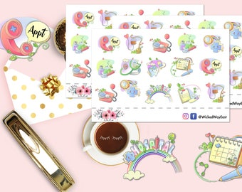 Medical Stickers, Doctor Appointment Sticker, Appointment Reminder Sticker, Medical Planner Stickers, Scrapbook Sticker, Planner Accessory