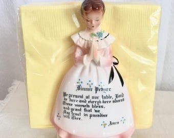 Vintage Dinner Prayer Napkin Holder