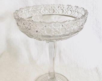 Vintage Crystal Compote