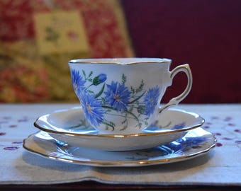 Royal Vale Bone China Tea Set - Cornflower