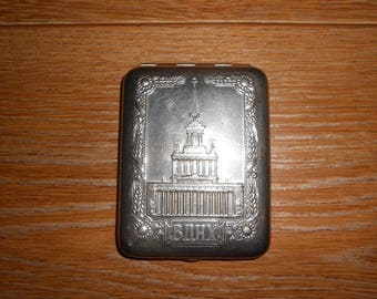 Old cigarette case of the USSR. VDNH.