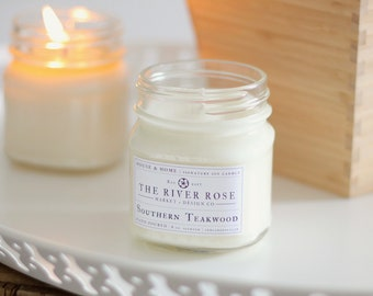 Southern Teakwood   100% Natural Soy Candle   Hand-Poured