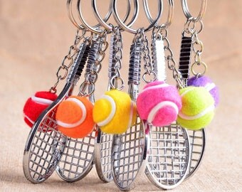 Mini Tennis Racket Keychain