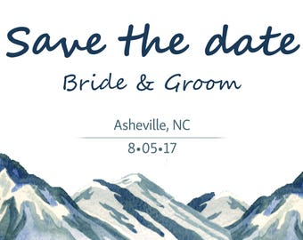 Save the Date Mountain Wedding