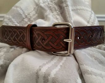 Mens handmade leather belt / Free shipping