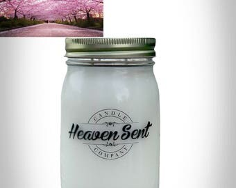 Cherry Blossom Scented Soy Candle