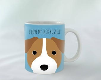 I Love my Jack Russell Terrier Mug personalised | Different colours available | Custom name mugs | Dog Mug