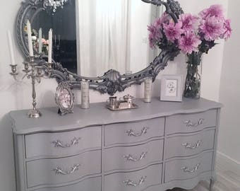 Shabby Chick 9 Drawer Solid Wood Dresser/Credenza