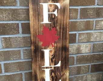 Rustic Wood Burned Fall Sign, Rustic Home Decor, Fall Sign, Fall Leaf Sign, Autumn Fall Decor, Woodburned Sign, Unique Sign, Custom, Rustic