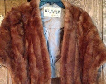 Vintage Fur Stole - TEPLY house of furs - Fur Wrap
