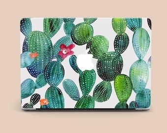 Floral case MacBook Pro 13 2017 Cactus case MacBook Air 11 Protective cover MacBook 15 Retina case Mac 15 Plastic case MacBook New case