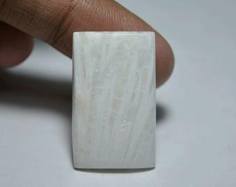 Scolecite beautiful cushion cabochon 31x19x4mm. 22cts.. A#1145