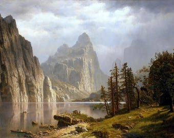 Merced River, Yosemite Valley Painting by Albert Bierstadt Art Reproduction