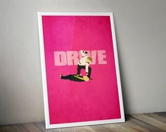Drive Minimalist Print - Drive Poster Print, Drive Film Wall Art, Drive Minimalist Art Print.