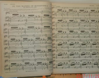 Sheet Music culled from The Etude Music Magazine, 1885 - 1918, Hardbound, 246 pages, roughly 189 pieces, good shape, Vintage, Had I But You