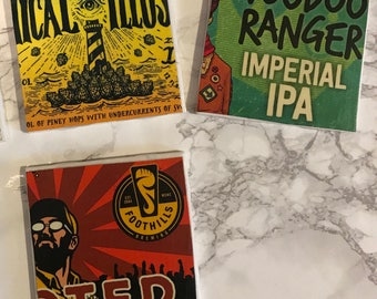 BEER TILE COASTERS Set of 4
