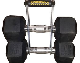 Genuine WEIGHTaxi® Dumbbell Carrier • Weight Holder • Carry Multiple Weights in One Hand!