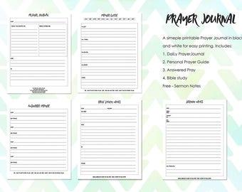 Printable Prayer Journal, bible journal, Bible Journaling kit, Bible Journaling Supplies, INSTANT DOWNLOAD