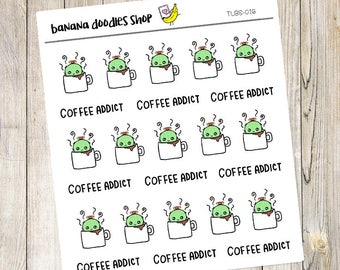 Tubs Coffee Addict Stickers