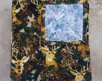 SALE! Camo Deer Baby Blanket, Flannel, Ready To Ship!