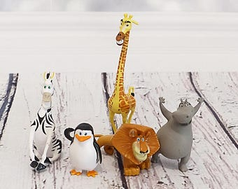 Set MADAGASCAR - figurine - Cake topper