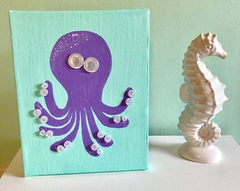 Silly Octopus Wall Canvas