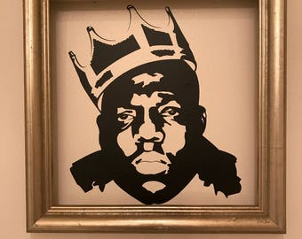 Custom Biggie Smalls (or your choice) Vinyl Wall Decal Graphic Removable Wallpaper Sticker