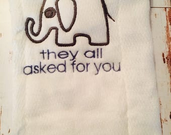 They all asked for you, Zoo NOLA burp cloth onesie bib tshirt