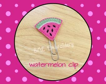 Planner Clip Watermelon-Planner Clip-Planner Accesories-Planner Supplies- Paper Clip-Watermelon Feltie-Watermelon Paper Clip