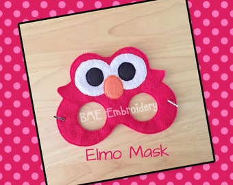 Elmo Inspired Mask-Halloween Mask/Costume-Dress Up-Seasme Street Mssk- Birthday Party Favor-Theme Parties-Sesame Street Party-Photo Prop