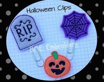 Halloween Paper Clips- Spider Web-Tombstone-Jack O'Lantern-Halloween Planner Clip-Plan Accesory-Journal Clip-Bookmark-Clips for Planners-60