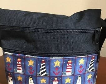 Nautical Lighthouse Anchor Hip Bag