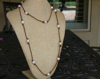 Freshwater Peral long necklace