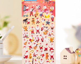 Cute DIY Colorful Christmas hot stamping kawaii Stickers Diary Planner Journal Note Diary Paper Scrapbooking- DESIGN 2