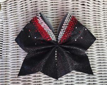 Red and black sparkle