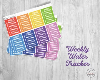 Weekly Hydrate Trackers