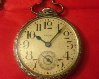vintage elgin pocket watch 1911