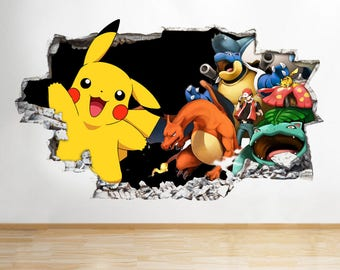 Wall Decal 3d Etsy