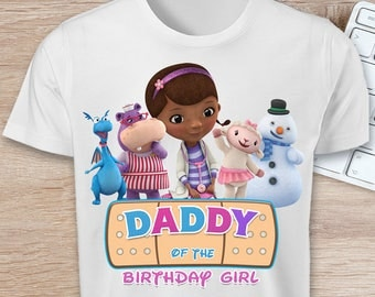 ON SALE 30%Doc McStuffins DADDY of the Birthday Girl T-shirt Iron On Transfer