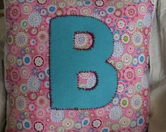Stitched Letter Pillow
