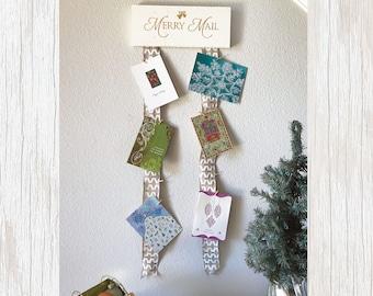 Christmas Card Holder, Christmas Card Display, Greeting Card Holder, Card Holder, Christmas Mail, Christmas Card Decor, Merry Mail Display