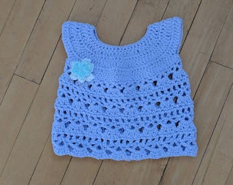 Crocheted Purple Lace Top, 12-18 Months