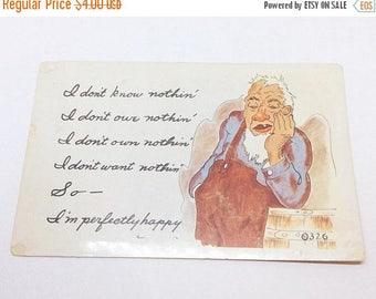 On Sale Vintage Kromekolor Comic Card, I Dont Know Nothin' Postcard
