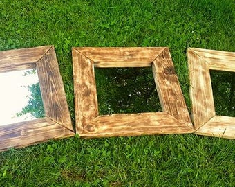 Mirror handcrafted rustic